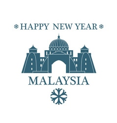 Happy new year malaysia vector