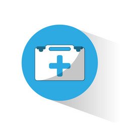 medical case aid equipment vector image