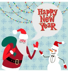 New year greeting card concept vector image vector image