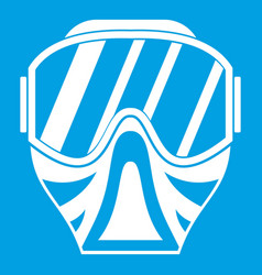 paintball mask icon white vector image
