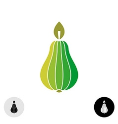 Pear logo flat colors symmetry style vector