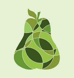 Pear multicolor vector