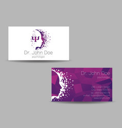 psychology visit card modern sign vector image vector image