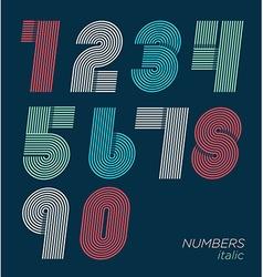 Retro fun numbers vector image vector image