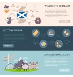 Scotland banners set vector