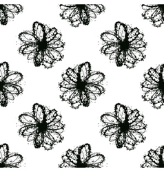 seamless pattern with daisy flower vector image