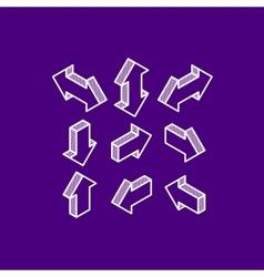 Set of isometric arrows vector