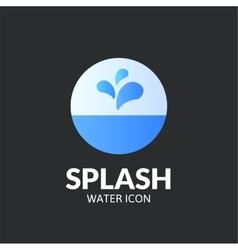 Splash logo template vector image vector image