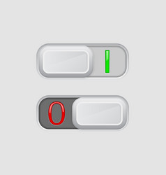 Toggle switch on and off buttons vector