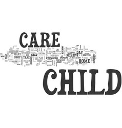 Why child care is necessary text word cloud vector