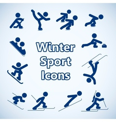 Winter sports icons set vector image