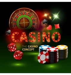 Realistic casino online games poster vector