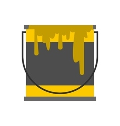 Bucket of paint icon flat style vector