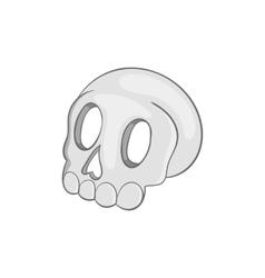 Skull icon black monochrome style vector