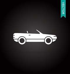 Car icon white on black vector