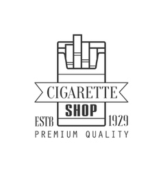 Cigarette shop premium quality smoking club vector