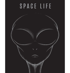 Head of space alien vector image