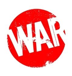 War rubber stamp vector image