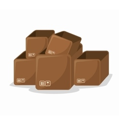 Carton box delivery packing vector