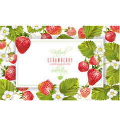 Strawberry horizontal banner vector