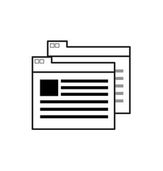 Figure virtual folder with file documents saved vector