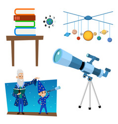 Astrology astronomy icons planet science universe vector