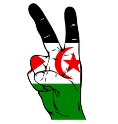 Peace sign of the western sahara flag vector