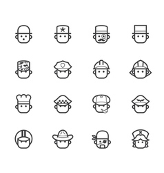 Ocupation black icon set 1 on white background vector