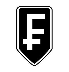 Swiss franc symbol button vector