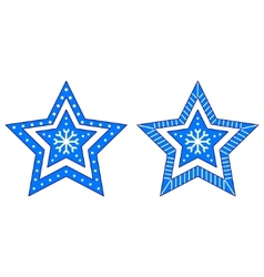 christmas star figured vector image
