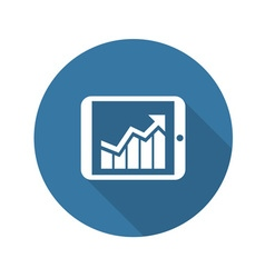 Business chart on tablet flat design vector
