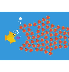 Little fish eat big fish vector