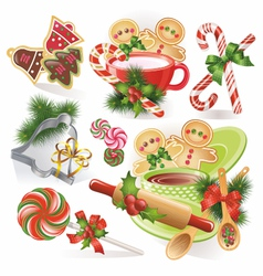 Christmas cookies and sweets vector