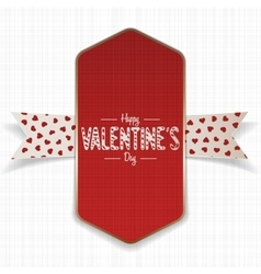 Red and golden happy valentines day banner vector