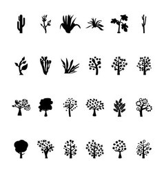 Trees Icons 4 vector image