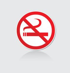 banner no smoking vector image