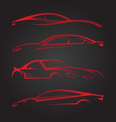 business set of modern car emblems vector image vector image