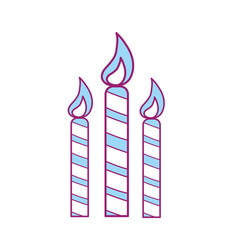 Candles party to cebrate happy birthday vector