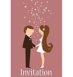 Cartoon wedding invitation vector