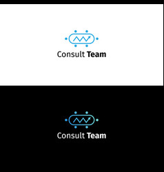 consulting business logo data analytics sign vector image vector image