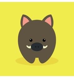 Cute cartoon wild pig vector