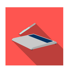 drawing tablet icon in flat style isolated on vector image