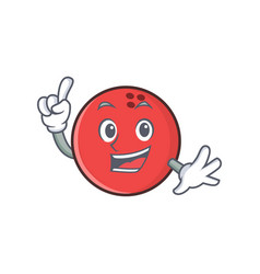 Finger bowling ball character cartoon vector