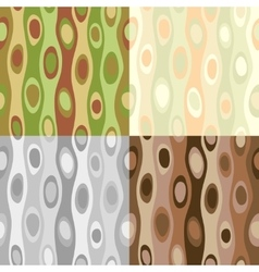 Four seamless abstract patterns vector image