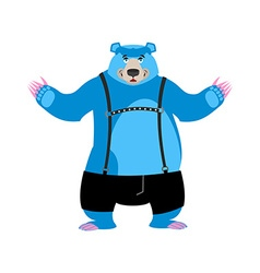 Gay blue bear animal symbol of sexual community vector image