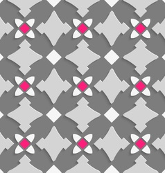 Geometrical ornament with shades of gray and pink vector
