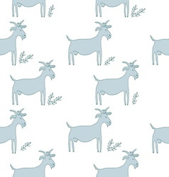Goat pattern vector image vector image