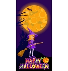 Halloween of mysterious night vector image vector image