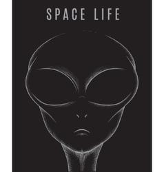 Head of space alien vector
