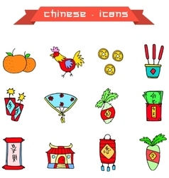 Icon of chinese new year element vector
